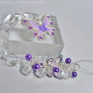 Butterfly sun catcher - purple - Filigree style