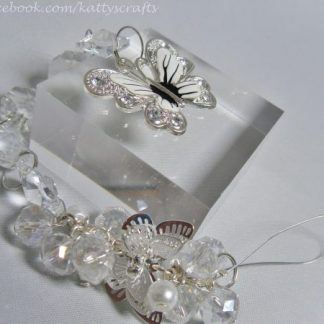Butterfly sun catcher - white - filigree style