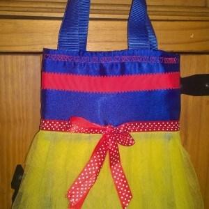 Tutu Tote Bag Blue and yellow