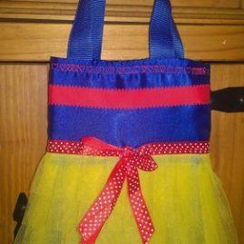 Tutu Tote Bag Blue and yellow