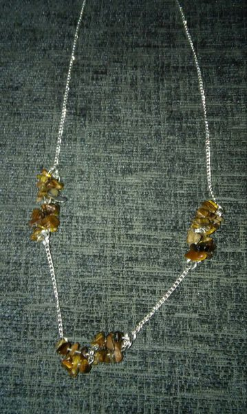 Tigers eye cluster necklace