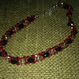 Red crystal choker with Swarovski® elements