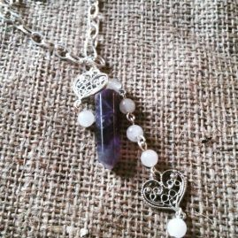 Amethyst long sauriot necklace
