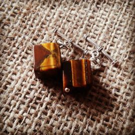 Tigers eye cube cufflinks