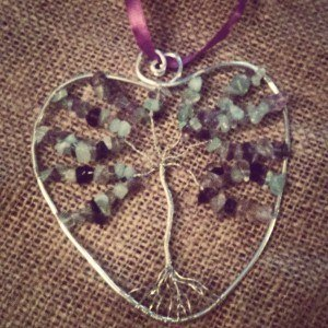 Fluorite Tree of Life Suncatcher