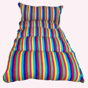 Rainbow child Snuggle bed in a bag – personalised