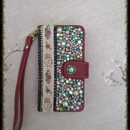 Blinged Wallet Style Mobile Phone Case.