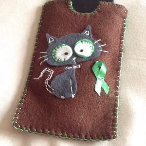 Awareness felt phone case – any phone or colour