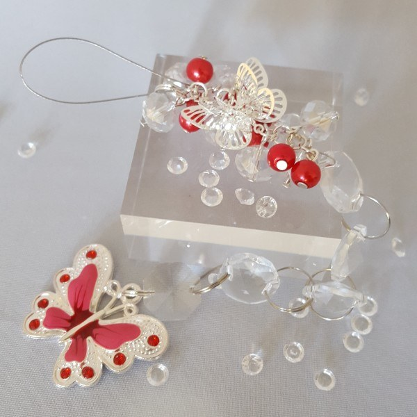 Butterfly sun catcher – Red – filigree style
