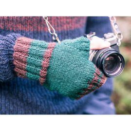 Mens knitted fingerless gloves