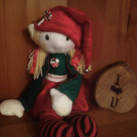 Cheeky Christmas Elf Decorative Doll