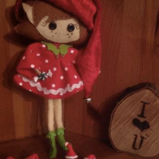Cheeky Christmas Elf Decoration