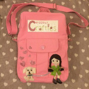 Conscious Crafties Logo Doll Pink Laptop Bag Rucksack