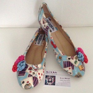 Ladies Alice in Wonderland flat ballet pump shoes