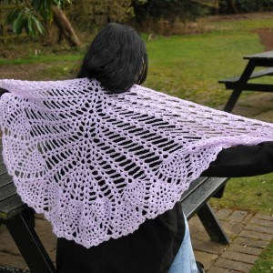 Crocheted wrap / shawl Conscious Crafties