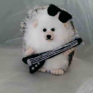 Needlefelt Miniature Hedgehog Sir Rock Hog - Conscious Crafties mini hedgehog mini hog