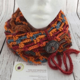 Hand Crocheted Artfully Simple Infinity Scarf – choose colour