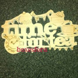 Time for tea kitchen wall plaque