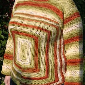 Hand crocheted jumper - 'Squares'