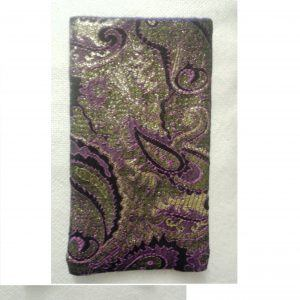 Purple and gold phone case 14.5 x8.5