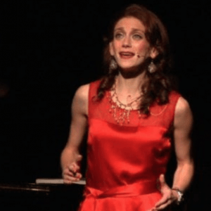 """Amy Oestreicher starring in her one-woman musical, """"Gutless and Grateful."""""""