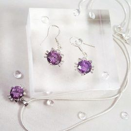 CAT JEWELLERY SET – PURPLE – KATTYS CRAFTS