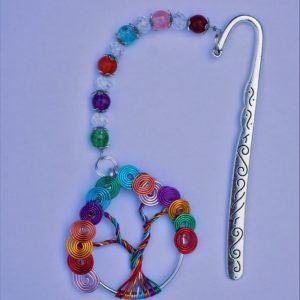 Large rainbow tree, Tibetian silver bookmark