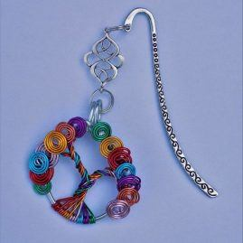 Travel rainbow tree bookmark