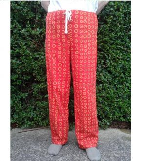 Pyjama pj style trousers made to measure any size, pattern or colour