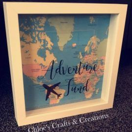 Adventure travel fund – Box frame money box