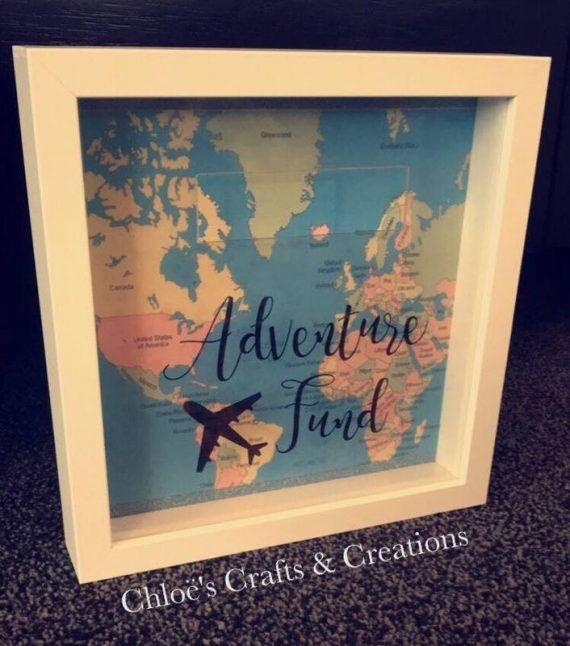 Adventure travel fund - Box frame money box