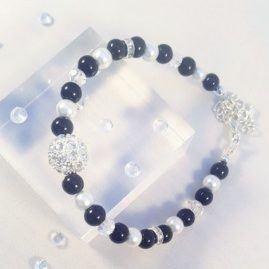 black-and-white-rhinestone-bracelet-kattys-crafts