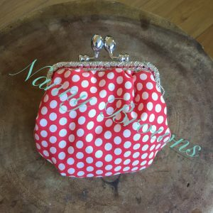 Coin purse, polka dot and floral