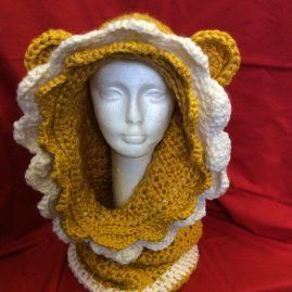 Crochet Child / Small adult Lion Snood
