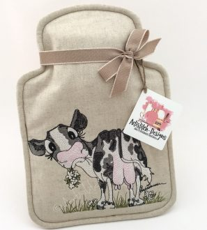 cow hot water bottle cover