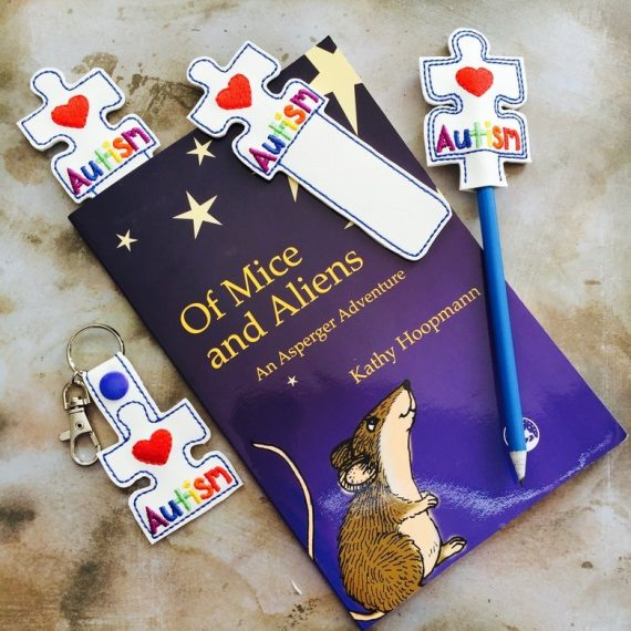 Autism Awareness Keyring, bookmark & Pencil