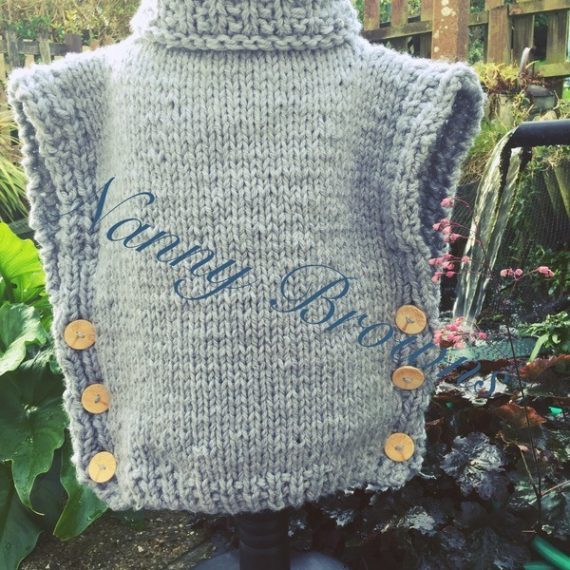 Knitted Sleeveless jumper toddler-adult