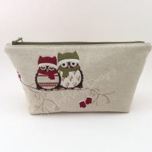 Owl Cosmetic Bag, Pencil Case, Storage Bag - can be personalised
