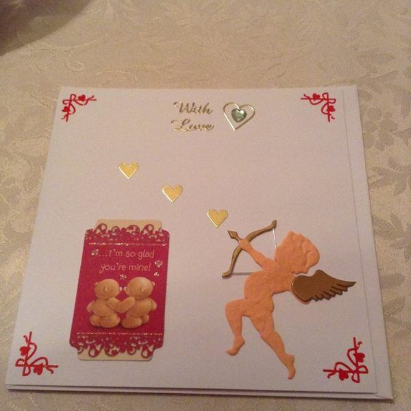 "Handmade ""With Love"" card"