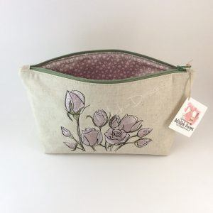 Rose Cosmetic Bag, Pencil Case, Storage Bag - can be personalised