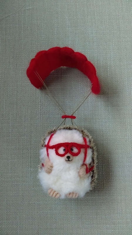 Skydive Hog Miniature Needlefelt Hedgehog Conscious Crafties