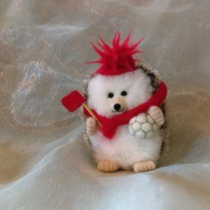 Football Fan Gift Hog Miniature Needlefelt Hedgehog - Any Colour mini hedgehog mini hog