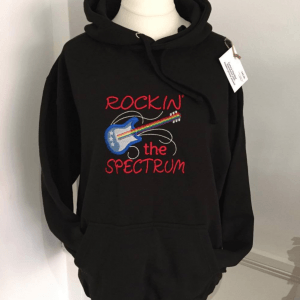 'Rockin the Spectrum' Music Themed Autism sweatshirt or hoodie