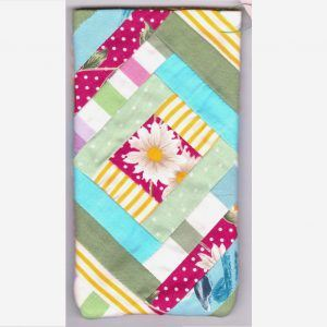 patchwork flower phone case