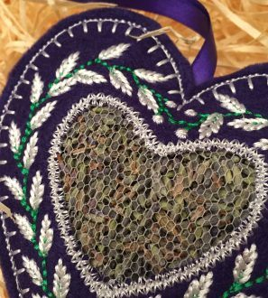 Lavender filled heart