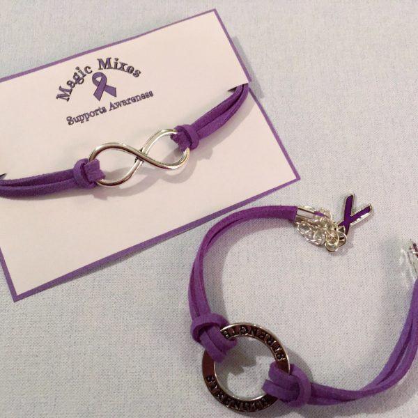 purple awareness bracelet jewellery