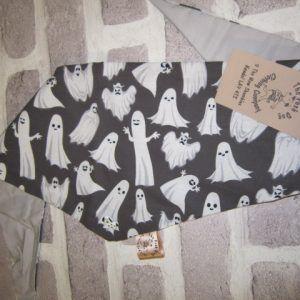 the posh dog clothing company bandanna black ghosts 1