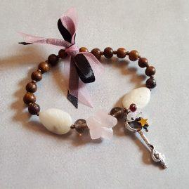 rose quartz flower wood