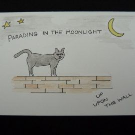 Cat and Quote Blank Card (Medium)