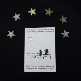 Little Girl, Dog, Stars and Quote Blank Card 4 (Medium)